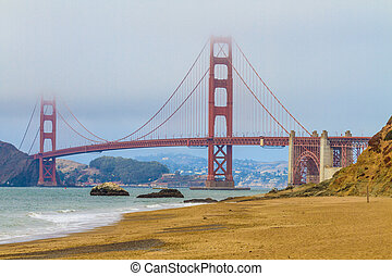 Golden Gate Bridge and Baker Beach, San Francisco, California