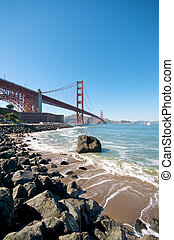 Golden Gate Bridge Beach in San Francisco