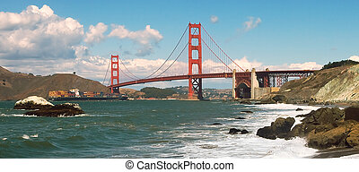 Golden Gate Bridge. - Golden Gate Bridge as seen from Baker ...