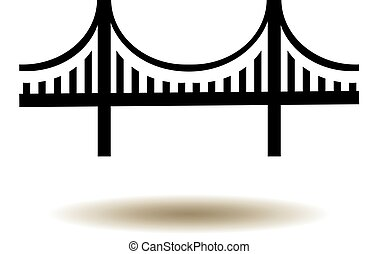 Golden Gate Bridge Icon - vector Golden Gate bridge icon