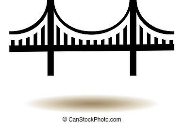 Golden Gate Bridge Icon - vector Golden Gate bridge icon