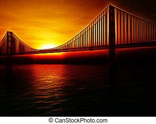 Golden Gate Bridge Illustration