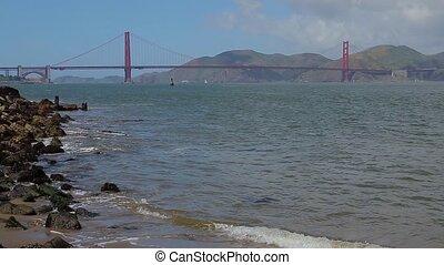 Golden Gate Bridge in San Francisco, California. Golden Gate...