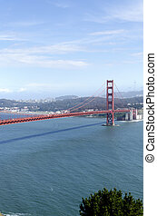 Golden Gate bridge in the city of San Francisco