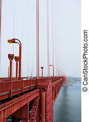 Golden Gate Bridge in the Morning Fog, San Francisco