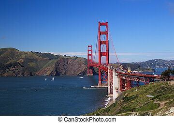 Golden Gate Bridge on a Sunny Day, San Francisco