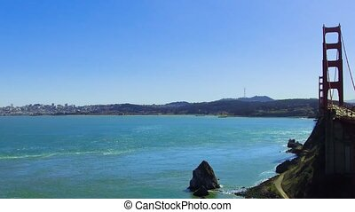 golden gate bridge over san francisco bay - landscape...
