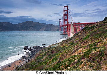 Golden Gate Bridge. - Image of Golden Gate Bridge in San...