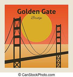 Golden gate bridge poster - Golden gate san francisco bay...