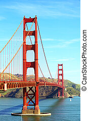 Golden Gate Bridge - Golden Gate Bridge, San Francisco,...