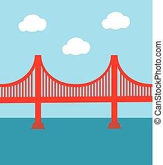 Golden Gate Bridge - vector golden gate bridge
