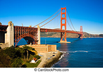 Golden Gate Bridge - view of the golden gate bridge San...