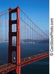 Golden Gate Bridge with Blue Sky, San Francisco