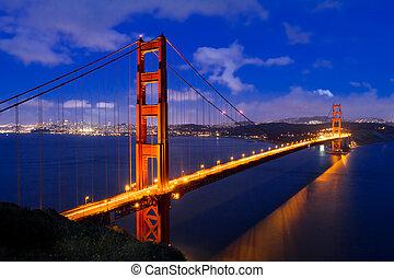 Golden Gate - golden gate after sunset