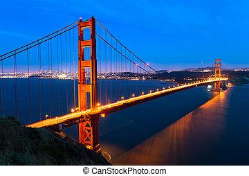 Golden Gate - golden gate bridge at night