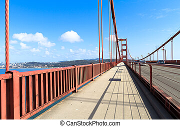Golden Gate - golden gate bridge walkway