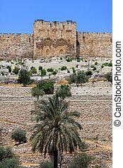 Golden gate, Jerusalem - View of Golden gates in...