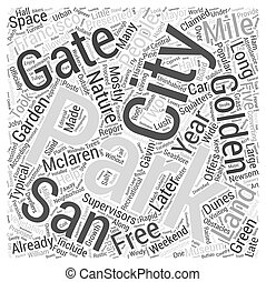 Golden Gate Park Word Cloud Concept
