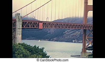 Golden Gate skyline - Archival eighties Golden Gate Bridge...