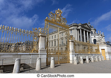 golden gate - main entrance to the Palace of Versailles