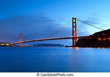 Golden Gate, sunset light