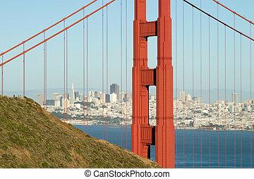 Golden Gate Tower close up