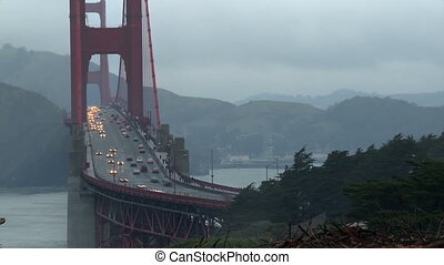 Golden Gate Traffic Time-lapse