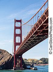Golden Gate Under Blue