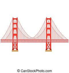 Golden Gate vector - Vector illustration San Francisco...