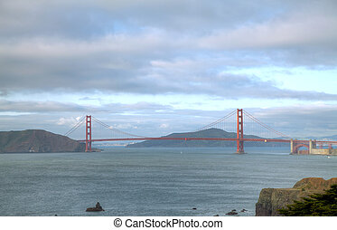Golden Gates bridge in San Francisco bay