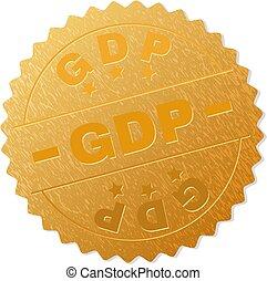 Golden GDP Badge Stamp