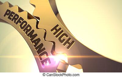 High Performance on Mechanism of Golden Metallic Cog Gears. 3D.