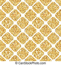 Golden Geometry Glitter Background - seamless pattern - in vector