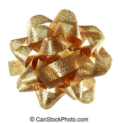 Golden Gift Bow