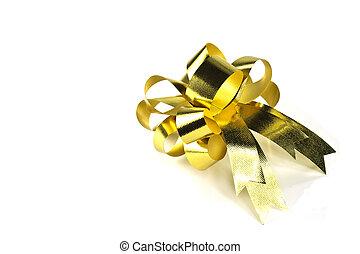 Golden gift bow.