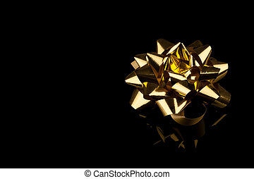golden gift bow