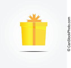 golden gift box vector