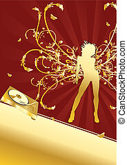Golden girl. - Flyer or poster for your party