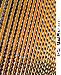 golden glass tube heap, solar panel details