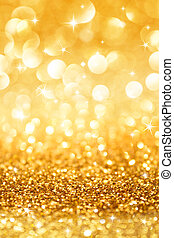 golden glitter and stars for christmas background vertical