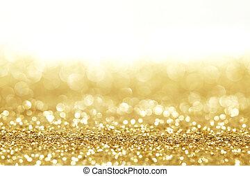 Golden glitter background - Golden shiny glitter holiday...
