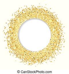 Golden glitter banner