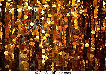 Golden glitter curtain background