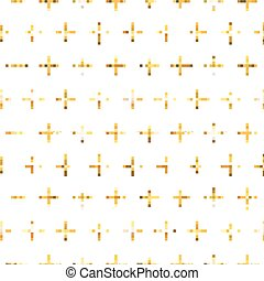 Golden Glitter Geometic Background - seamless pattern - in vector