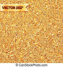 Golden glitter texture vector seamless pattern