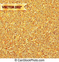 Golden glitter texture vector seamless pattern