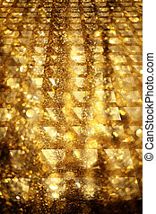 Golden Glittering Bling Party or Christmas Background