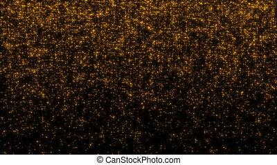 Golden glittering stars. Seamless loop