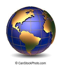 golden Globes - Golden Globe symbol of financial success...