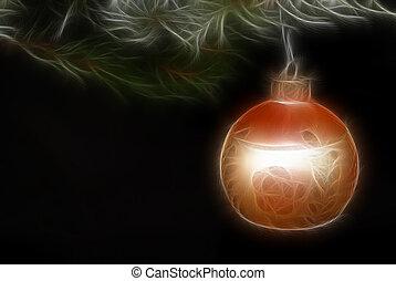 Golden Glow - Christmas ornament in fractal effect.